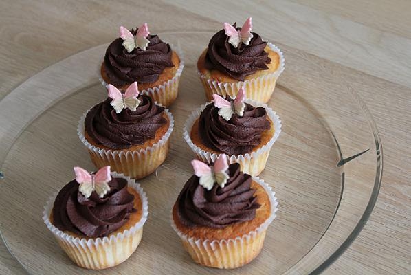 Banan cupcakes med chokolade frosting
