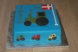 Fødselsdagskage med traktor