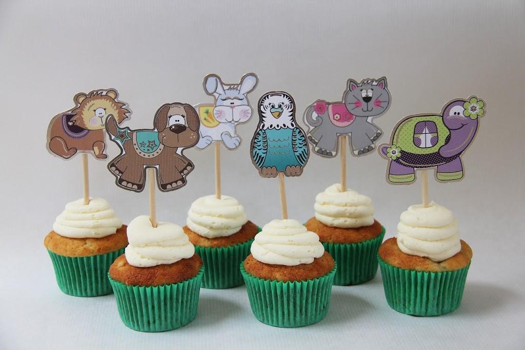 Pynt til cupcakes til børn