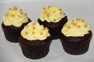 Chokolade cupcakes med ananas frosting