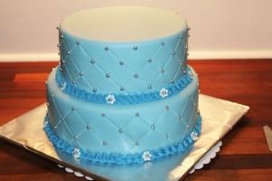 Drengedåbskage med fondant - Annettes kager