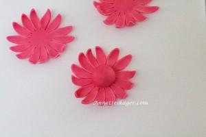 Pink fondant blomst - Annetteskager