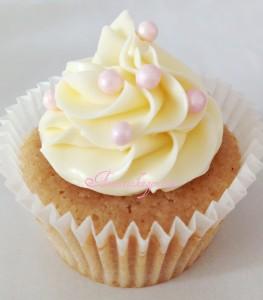 Skønne cupcakes med jordbær og Baileys