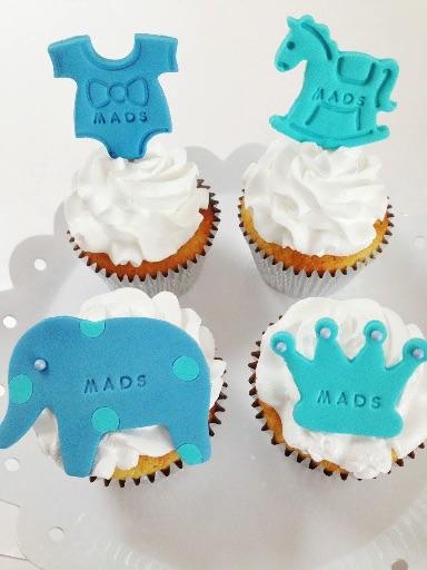 Cupcakes til dåb eller fødselsdag.