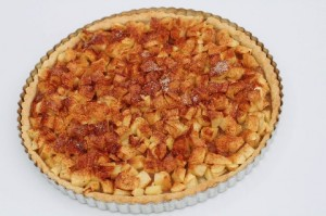 Færdigbagt æbletærte