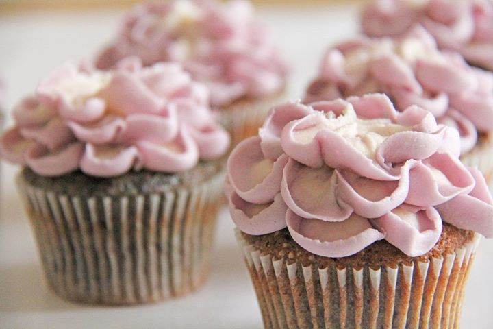 Blåbær muffins med frosting