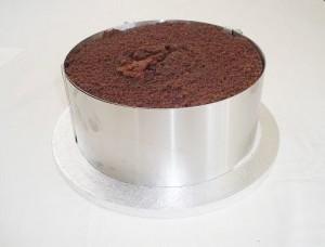 Fondant kage med fyld