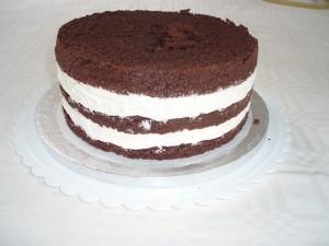 Kage med fyld