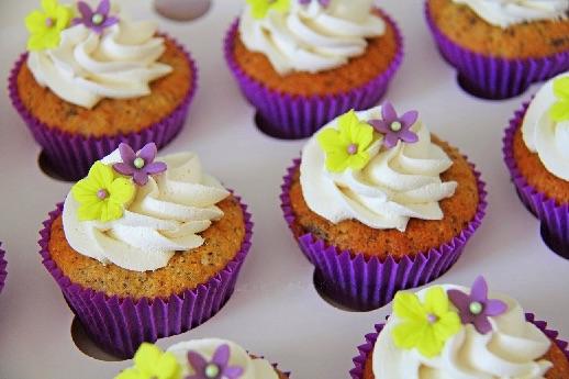 Vanilje frosting med flormelis