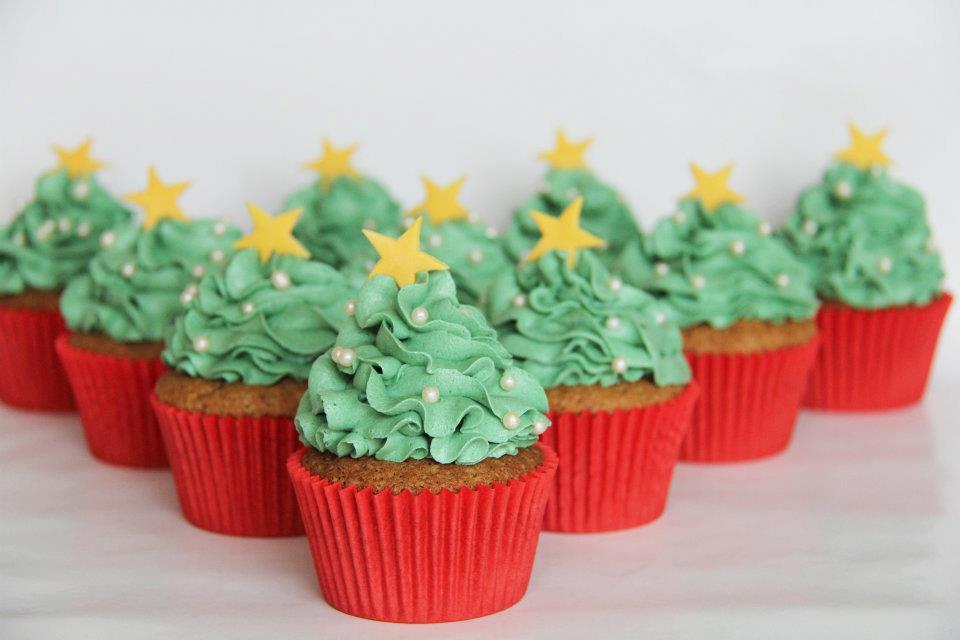 Jule cupcakes med jule krydderier