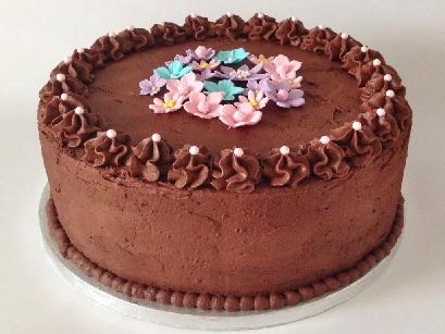 Kage med masser af chokolade