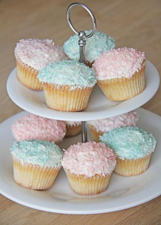 Kokos cupcakes med creme chesse frosting