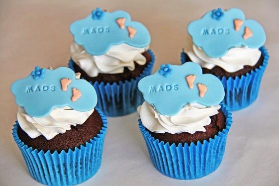Cupcakes til barnedåb