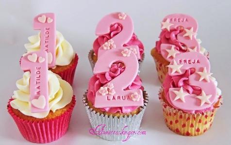De flotteste fødselsdags cupcakes