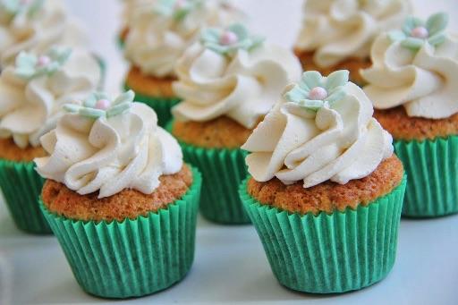 Pistacie cupcakes
