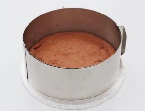 Browniekage med hindbær mousse - Annettes kager