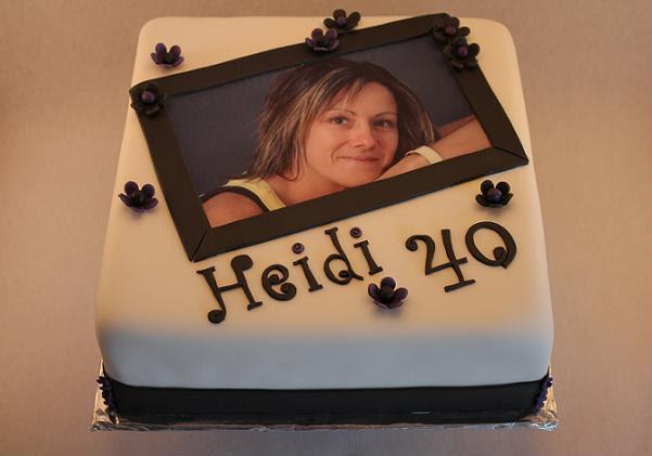 Fødselsdagskage til Heidi