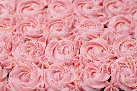 Brownie med roser 8