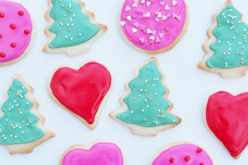 Jule småkager med glasur - Annetteskager