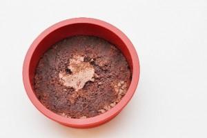 Hindbær islagkage med brownie
