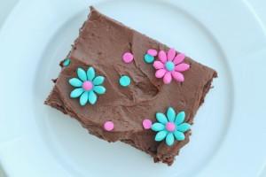 Chokoladekage med chokolade frosting - Annetteskager