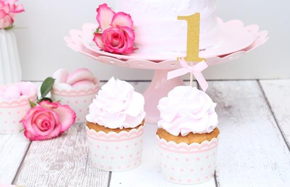 Pige muffins til fødselsdag - Annetteskager