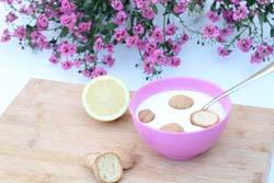 Hjemmelavet koldskål med tykmælk og æg