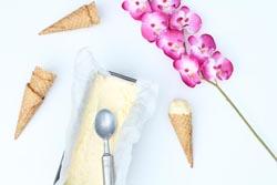 Hjemmelavet vaniljeis lavet på ismaskine