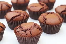 Brownie cupcakes med frosting