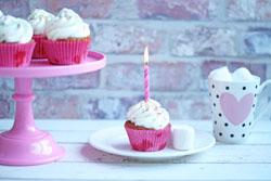 Fødselsdags muffins med frosting