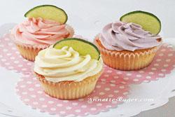 Muffins med lime og vanilje frosting