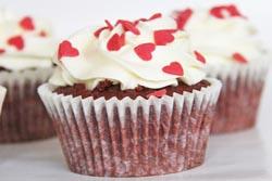 Red velvet muffins med ostecreme