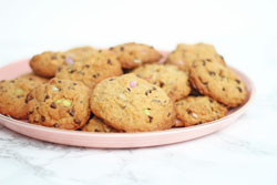 Amerikanske cookies med Smarties