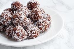 Havregrynskugler med chokolade