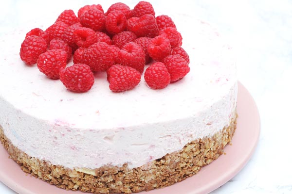 Nem Hindbær cheesecake uden Digestive