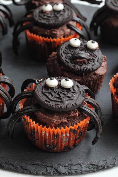 Halloween muffins pynt - Annettes Kager