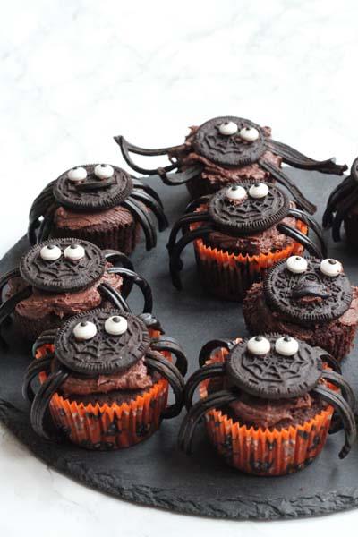 Opskrift på edderkoppe cupcakes