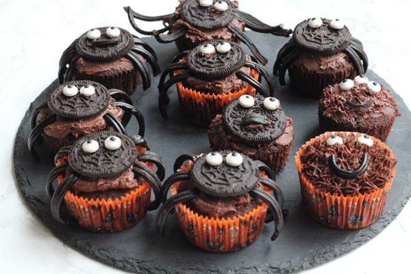 Edderkoppe muffins